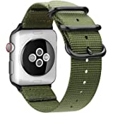 AIGENIU コンパチブル Apple Watch バンド、防水性と耐久性のある編みナイロン バンド Compatib…