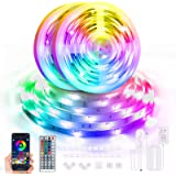 65.6ft LED Strip Lights Bluetooth, Color Changing Led Light Strip with Remote and App Control, RGB Music Sync LED Lights for