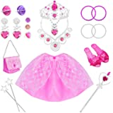 Tagitary 21 Pack Princess Pretend Jewelry Girl's Toys, Girl's Jewelry Dress Up Play Set,Birthday Party Supplies Included Crow