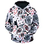 Unisex Playing Cards 3D Prints Peak Pullover Mens Hoodie Sweatshirt Jumper Jacket with Adjustable Hood and Front Pockets...