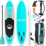 SereneLife Premium Inflatable Stand Up Paddle Board (6 Inches Thick) with SUP Accessories & Carry Bag | Wide Stance, Bottom F