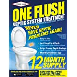 Septic Tank Treatment - 1 Year Supply of Septic Treatment- Dissolvable Septic Tank Treatment Packets - Use Septic Treatment E