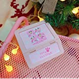 1 Pcs Kawaii Pink Panther Leaves Keyboard Wings Star Square Desk Organizer Storage Box Jewelry Plastic Case Stationery Holder