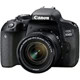 Canon EOS 800D Single Kit with EFS 18-55mm f 4-5.6 IS STM Digital Camera - SLR(800DKIS) 3Inch Display,Black (Australian warra