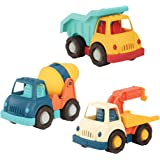 Wonder Wheels by Battat – Dump Truck, Tow Truck, Cement Truck – Toy Truck Combo Set For Toddlers Age 1 & Up (3 Pc) – 100% Rec