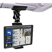 Zenoplige 車載 ホルダー スマホ タブレット クリップ しっかり固定 携帯 スタンド サンバイザー 後部座席…