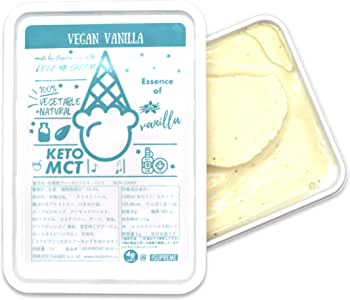 ISUPREME 有機豆乳使用 低糖質 ヴィーガンアイス バニラ味 (1000ml) Non-Dairy