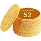 52-Count Facial Sponges Compressed Facial Cleaning Sponges, Face Cleansing Sponge SPA Massage Sponges Cleaning Exfoliating Sp