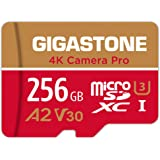 Gigastone 256GB Micro SD Card, 4K Camera Pro, 4K Video Recording for GoPro, Action Camera, DJI, Drone, R/W up to 100/60 MB/s