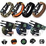SITAKE サバイバルキット 多機能/登山ブレスレット パラコードサバイバルブレスレット 緊急パラコードブレスレット 5 in 1 アウトドア 旅行 ハイキング キャンプ用品 安全対策 7個入り