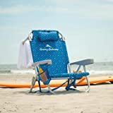 Tommy Bahama Beach Chair 2020 Backpack Cooler Chair with Storage Pouch and Towel Bar