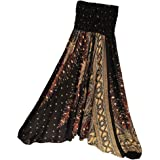 Prettyia Floral Harem Pants Comfortable Wide Leg Baggy Yoga Hippie Trouser for Women Ladies