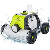 OT QOMOTOP Robotic Pool Cleaner, Rechargeable Cordless Design, 90 Mins Working Time, IPX8 Waterproof, Power Detection Technol