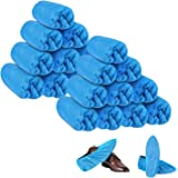HOEAAS 200 Pack Disposable CPE Shoe Covers Waterproof Slip Resistant Hygienic, Non Slip, Durable, Recyclable Boot&Shoes Cover