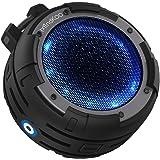 MindKoo Bluetooth スピーカー IPX8完全防水 ワイヤレス Bluetooth4.0 お風呂用 【4つライトモード変換/マイク内蔵/12時間連続再生】アウトドア ポータブル スピーカー