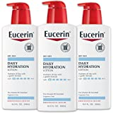 Eucerin Daily Hydration Lotion - Light-weight Full Body Lotion for Dry Skin - 16.9 fl. oz. Pump Bottle (Pack of 3)