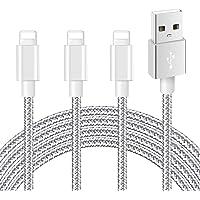 iPhone充電ケーブル ライトニングケーブル 【3本セット 2m+2m+2m】【MFi 認証】急速充電 ナイロン編み…