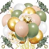 Erweicet 12 Inch Sage Green Blush Balloons