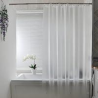 AooHome 防カビ シャワーカーテン 半透明 90x180cm 防水 バスカーテン ユニットバス 浴室 間仕切り 北…