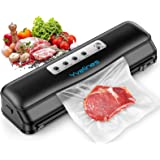 Yvelines Vacuum Sealer Machine,Automatic Food Sealer for Food Savers,Dry&Moist Modes,Portable Vacuum Sealing Machine with 10