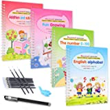 Magic Practice Copybook,Set for Kids Calligraphic Letter Drawing Mathematics Addition and Subtraction Writing Tool,Reusable C