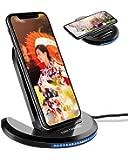 ワイヤレス充電器 ELEGIANT 折りたたみ 急速 10W/7.5W/5W ワイヤレス 充電器 Qi ワイヤレス急速充電器 ワイヤレスチャージャー 急速充電器 2.0/3.0 置くだけ充電 iPhone 8/8+/X/XS/XS MAX/XR Galaxy S20/S20 Plus/S20 ultra/S10/S9/S8/S7 Nexus 4/5/6 HUAWEIなど他QI機種対応 日本語説明書