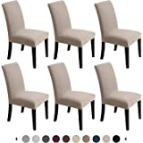 Chair Covers for Dining Room - Stretch Chair Slipcovers for Decorative Seat Protector Armless Removable Washable Elastic Dinn