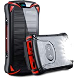 モバイルバッテリー 30000mAh ワイヤレス充電器 ソーラーチャージャー PD18W 急速充電 LEDライト付き S…