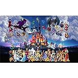 5D Diamond Painting Full Drill, Disneyland Cartoon DIY Diamond Painting by Number Kits, Rhinestone Crystal Drawing Adults Kid