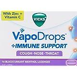 Vicks VapoDrops + Immune Support Blackcurrant Menthol, Lozenges, 16ct