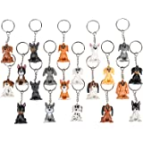 """1.5"""" Puppy Keychain - 20 Pack Mini Backpack Hook - Keyring for Bag and Belt Loop Accessory, Back to School Item, Arts & Craft"""