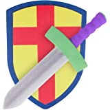 Children's Foam Toy Medieval Joust Sword & Shield Knight Set Lightweight Safe for Birthday Party Activities Event Favors Toy
