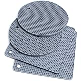 Extra Thick Silicone Trivet Mat Heat Resistant Pot Holders Hot Pads Multi-Purpose Table Placemats for Hot Dishes and Table -