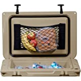 Cooler Net for Dry Storage + Organization   Compatible with Yeti, Coleman, Igloo, Lifetime, Pelican, Canyon Ice Chests   Comp