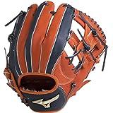 ミズノ(MIZUNO) ソフトボール用 グローバルエリート Hselection01 内野手用 サイズ9 1AJGS18213 5229 Sオレンジ/Dブルー 9