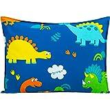 Toddler Pillow with Pillowcase 14x19, Cottonblue 100% Organic Cotton Kids Bedding Pillow for Sleeping, Machine Washable, Boys