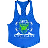 GYMAPE Mens Stringer Gym Bodybuilding Tank Tops Cotton for Workout with Arch Hem
