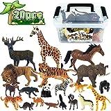 Tagitary 動物のフィギュア リアル動物20点セット 子供用おもちゃ  誕生日プレゼント 定番玩具 子供飛びつくおもちゃ 収納便利 収納ボックス付き 豪華セット コレクション キッズおもちゃ 保育園教具 祝いプレゼント