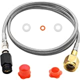Upgraded Soda Stream Adapter Hose Kit,60in CGA320 to TR21-4 G1/2 Soda Maker Co2 Tank Direct Adapter,with External High-Pressu