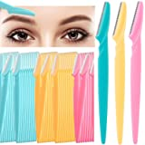 60Pcs Eyebrow Razor Shaper Shavers Trimmers for Women and Men Face Hair Removers Multipurpose Exfoliating Face Razor