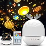 Night Light Projector for Kids, Star Projector Light, Baby Night Lamp with Musicbox, 360° Rotation Nursery Night Light for ba