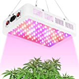 TATU 1000W LED Grow Lights Full Spectrum Double Chips Growing Lamp for Indoor Plants Veg and Bloom Switch (Actual Power 110 W
