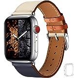 WFEAGL コンパチブル Apple Watch バンド,は本革レザーを使い、iWatch SE、 Series 6/5/4/3/2/1、Sport、Edition向けのバンド交換ストラップです コンパチブル アップルウォッチ バンド(42mm 4