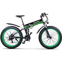 MX01 26インチ折りたたみ電動自転車、48V 1000W強力なモーター、マウンテンバイク、ファットバイク、デュアルサスペンション、5レベルペダルアシスト