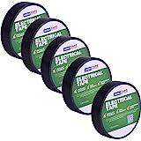 【Amazon 限定ブランド】ADHES 電気絶縁テープ ビニルテープ 耐熱テープ 黒 19mm×20m 5巻セット