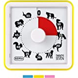 Countdown Timer 3 inch; 60 Minute 1 Hour Visual Timer - Classroom Teaching Tool Office Meeting, Countdown Clock for Kids Exam