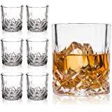 Farielyn-X Crystal Old Fashioned Whiskey Glasses (Set of 6), 11 Oz Unique Bourbon Glass, Ultra-Clarity Double Old Fashioned L