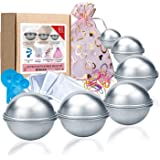 Bath Bomb Mould Set 60 Pcs - 12 Pieces 3 size DIY Mould , Spoons ,Warp bags , gift bags and rubber band set for Crafting your