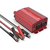 BESTEK 純正弦波 カーインバーター(バッテリー接続クリップ付) 300W 車載充電器 六つ保護機能 DC12VをAC100Vに変換 12V車対応 MRZ3010BU