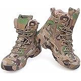 [KIRA] 迷彩 軍用靴 コンバットブーツ レッキングシューズ メンズ ミリタリーブーツ アウトドアスニーカー 登山 ハイキング ジャングルブーツ 防水 通気性 耐磨耗 ブーツ